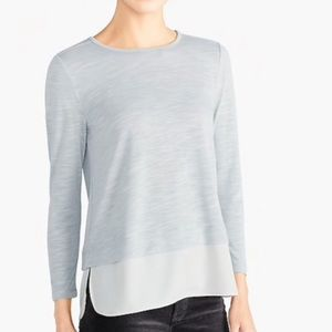 J Crew Mercantile Grey Mock layer sweater  top